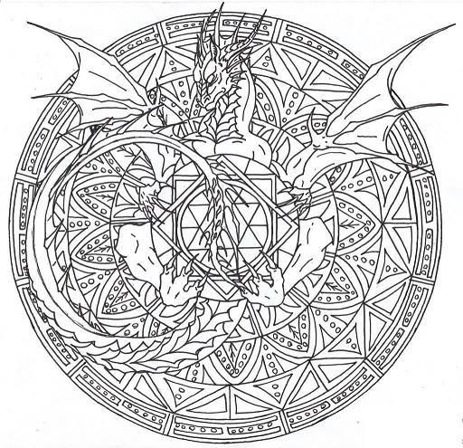 Mándalas de dragones