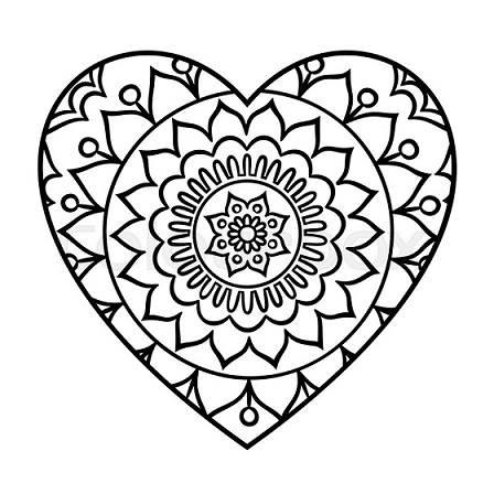Mándalas de corazones
